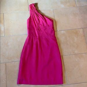 Pink, 1 shoulder Midi dress